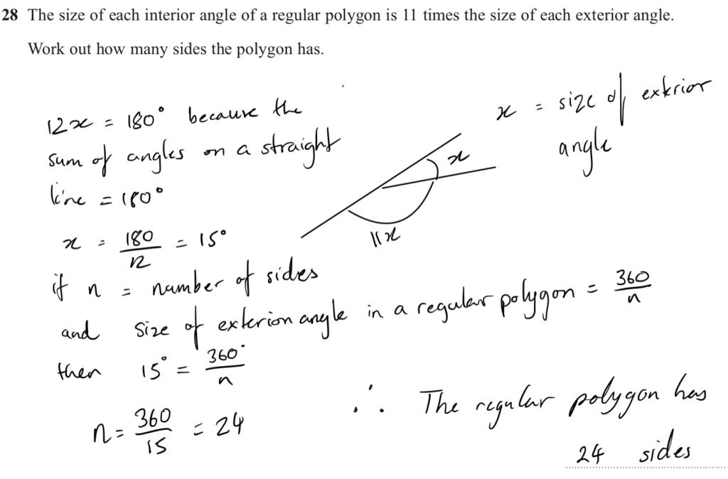 edexcel Foundation maths gcse hard Angle Problem